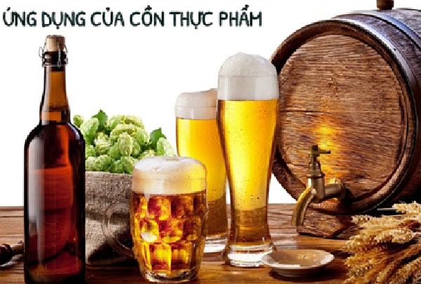Cồn Ethanol thực phẩm được ứng dụng trong sản xuất rượu, bia