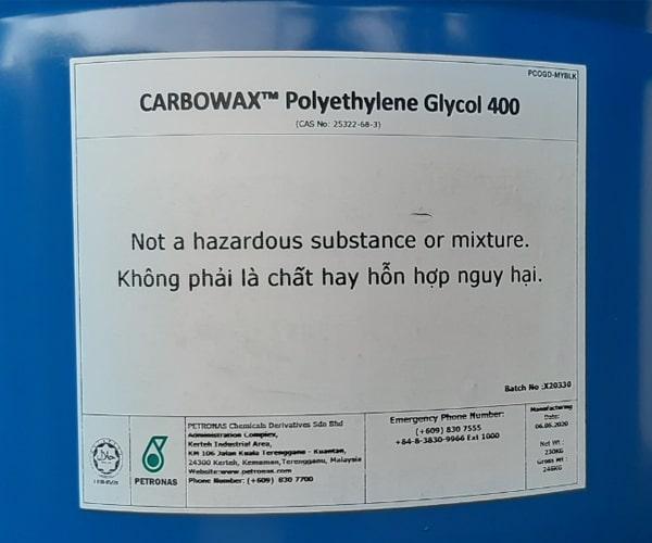 Hóa chất Polyethylene Glycol 400 là gì?