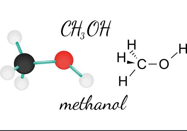 Công thức hóa học của hóa chất Methanol