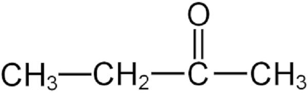 Công thức hóa học của hóa chất Methyl Ethyl Ketone