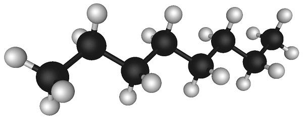 Cấu tạo phân tử của Hóa chất Octane